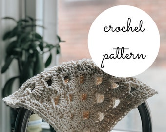 Dogwood Dishcloth Crochet Pattern / PDF Download