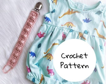 Bobble Paci Clip Crochet PATTERN / PDF Download