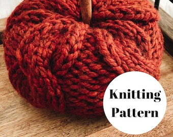 Sweater Pumpkin Knitting PATTERN / PDF Download