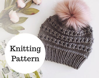 The Birdie Beanie Knitting PATTERN / PDF Download