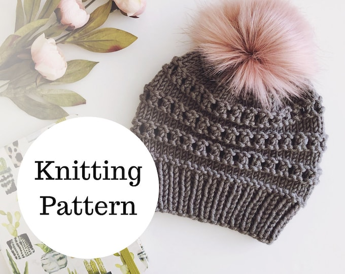 Featured listing image: The Birdie Beanie Knitting PATTERN / PDF Download