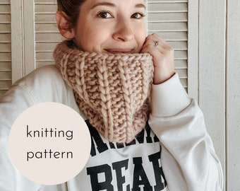 Coffee Bean Cowl Knitting Pattern / PDF Download
