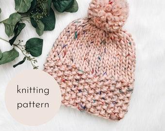 Lola Beanie Knitting PATTERN / PDF Download