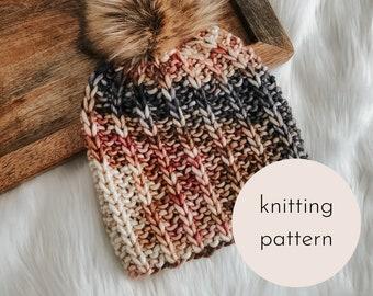 The Coffee Bean Beanie Knitting Pattern / PDF Download
