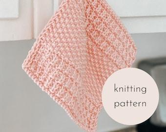 The Willow Dishcloth Knitting PATTERN / PDF Download