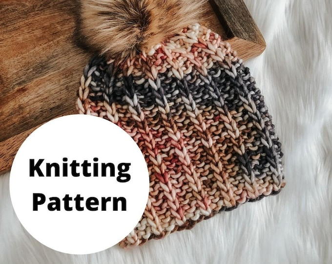Featured listing image: The Coffee Bean Beanie Knitting Pattern / PDF Download