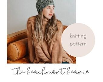 The Beachmont Beanie Knitting Pattern / PDF Download
