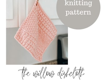 The Willow Dishcloth Knitting PATTERN / PDF Download