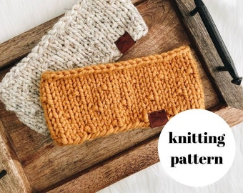 The Hazel Headband Knitting PATTERN / PDF Download