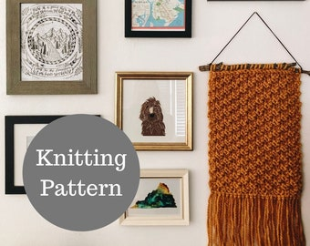 The Madeline Wall Hanging Knitting PATTERN / PDF Download