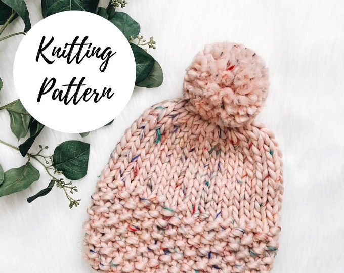 Featured listing image: Lola Beanie Knitting PATTERN / PDF Download