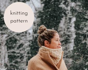 The Mermaid Tail Cowl Knitting Pattern / PDF Download