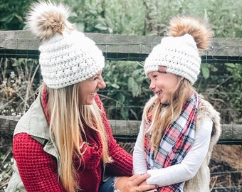 Mommy and Me Bobble Beanies