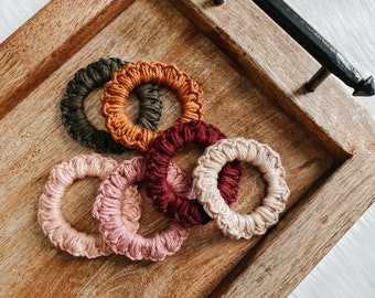 Cotton Scrunchie | Hand Crocheted