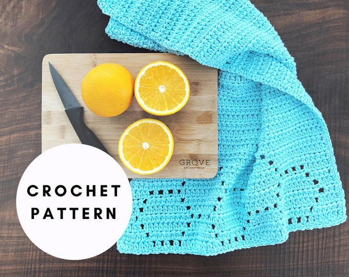 Featured listing image: Honeycomb Hand Towel / Crochet PATTERN / PDF Download