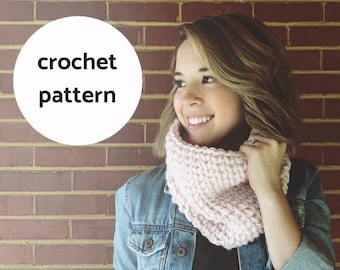 Stone Street Cowl Crochet PATTERN /PDF Download