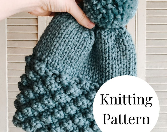 Featured listing image: The Sadie Beanie Knitting Pattern / PDF Download