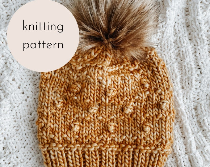 Featured listing image: The Dewdrop Beanie Knitting Pattern / PDF Download