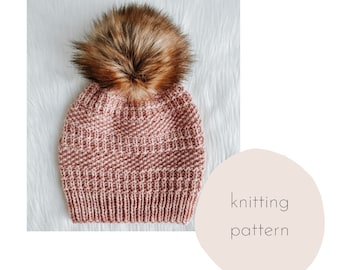 The Calluna Beanie Knitting Pattern / PDF Download