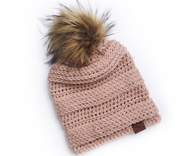 Featured listing image: Blush Linden Beanie