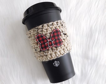 Plaid Minnie Bow Cozy
