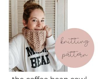Coffee Bean Cowl Knitting Pattern / PDF Download