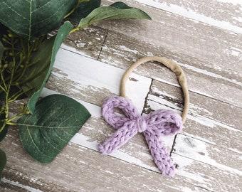 Classic Hair Bow / Lavender
