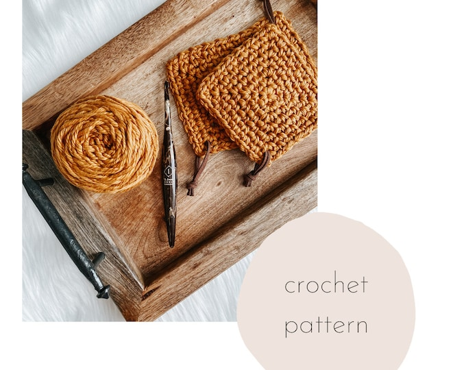 Featured listing image: The Arcadia Coaster Crochet PATTERN / PDF Download