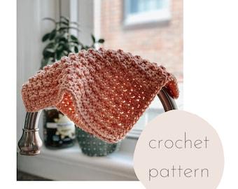 The Redbud Dishcloth crochet pattern / PDF Download