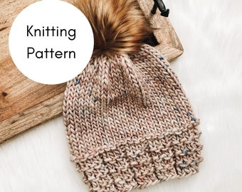 The Sandstone Beanie Knitting PATTERN / PDF Download