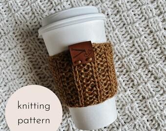 Coffee Bean Cozy Knitting Pattern / PDF Download