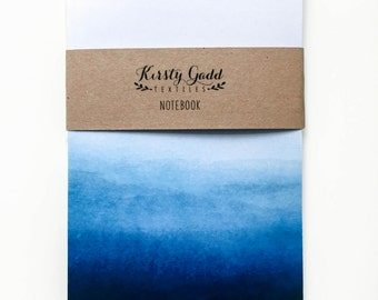 Blue Ombre A6 Notebook