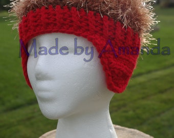 9910ab2fd31 Crazy Hair Winter Trapper Hat - Child - Kids - Fun Gift - Fake Hair Beanie   SAMPLE SALE  only 1 available