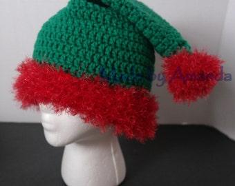 c8a6a227f3d Santa   Elf crochet hat
