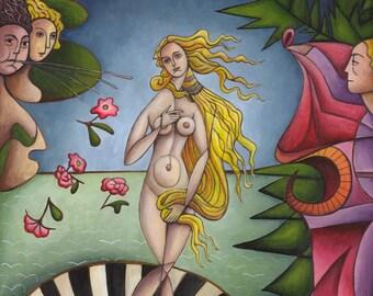 Original painting: the birth of Venus by Botticelli
