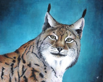 Original painting: boreal Lynx