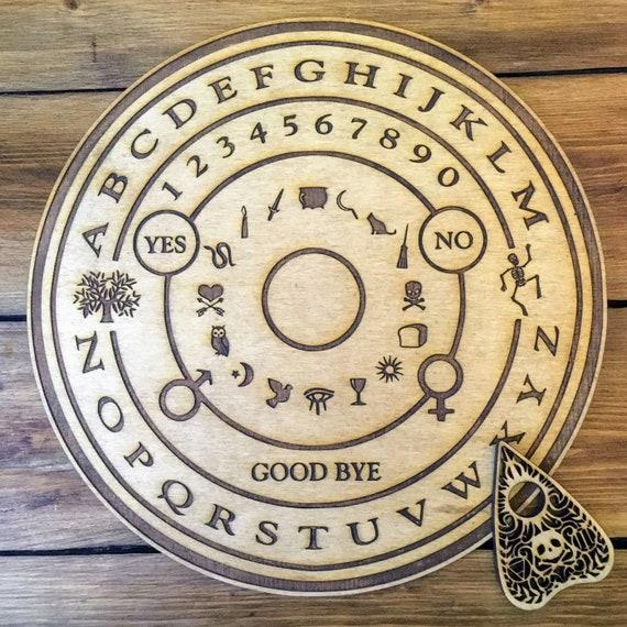 Gioco Circolare In Legno Tavola Ouija Board Di Spirito E La Etsy