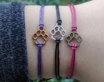 Vet Tech Week Gift, Paw print Bracelet, Pet Lover Bracelet, Paw Wish Bracelet, Cat Mom Gift, Dog Mom Gift, Stocking Stuffer, Gift under 10