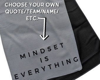 Personalized Cooling Towel, Fitness Towel, Team Towel, Workout Towel, Custom Team Gift, Summer Gift Idea, Workout Gift for Him, Athlete Gift