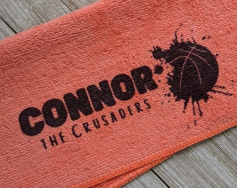 Basketball Team Gift, Basketball Accessories, Basketball Gift, Girls Basketball Gift, Basketball Towel, Personalized Basketball Microfiber