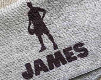 Basketball Team Gifts, Basketball Accessories, Basketball Gift, Girls Basketball Gift, Basketball Towel, Personalized Basketball Microfiber