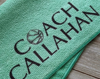 Basketball Coach Gift, Basketball Accessories, Coach Gift, Girls Basketball Coach Gift, Basketball Towel, Personalized Basketball Microfiber