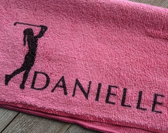 Golf Gifts for Her, Ladies Golf, Golf for Her, Golf Gifts, Golf Towel, Personalized Golf Gift, Golfer Gift, Mothers Day Gift Idea, Golf Wife