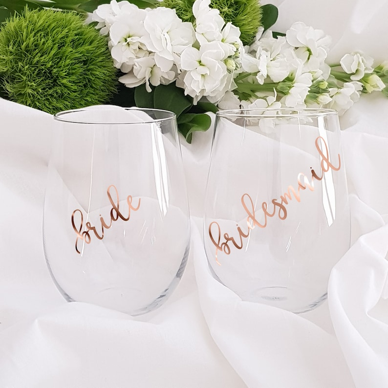 DIY Bridal Party Glass Decal sticker Bridal Party Decals Only image 0
