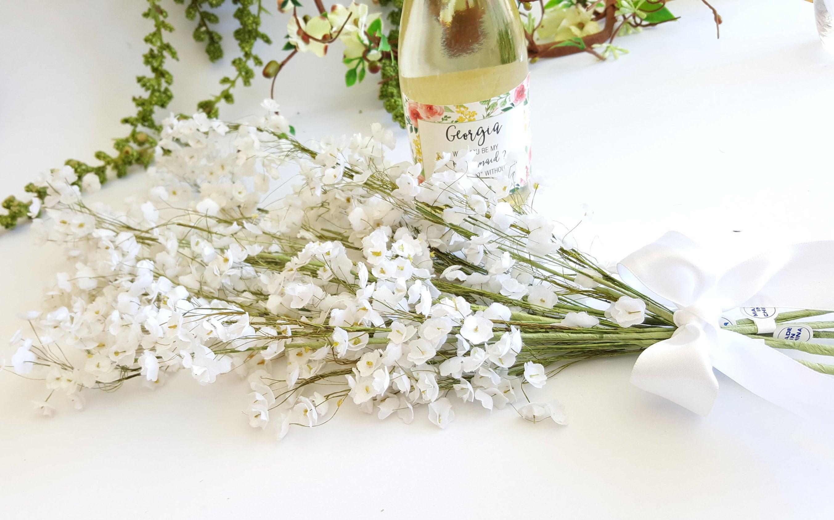 Artificial White Gypsophila/Babys Breath Silk Flower ~ 5 Stems ...