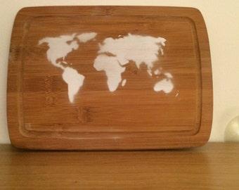 Wood world map etsy wood world map gumiabroncs Choice Image
