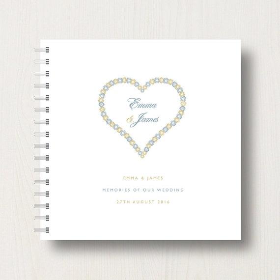 Personalised Wedding Memories Book or Planner