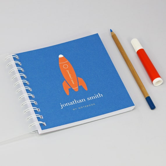 Personalised Children's Rocket Small Notebook