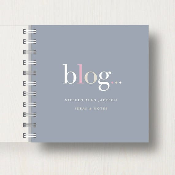 Personalised Blogger's Small Notebook