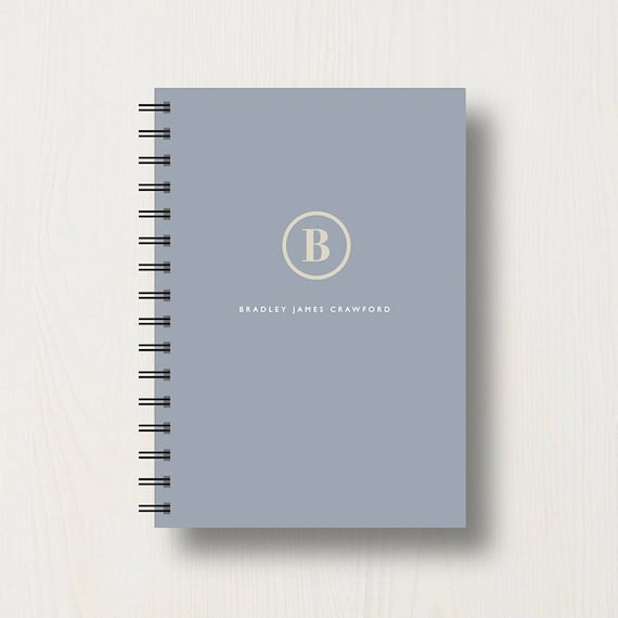 Personalised Classic Name Initial Journal